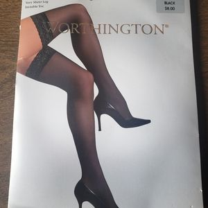 Worthington Lace Top Thigh Highs